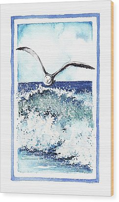 Wood Print featuring the painting Fly High by Heidi Kriel