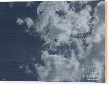 Wood Print featuring the photograph Fly Me To The Moon by Megan Dirsa-DuBois