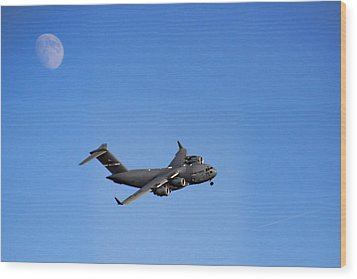 Wood Print featuring the photograph Fly Me To The Moon by Tammy Espino