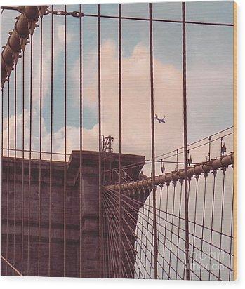 Fly Over Brooklyn  Wood Print