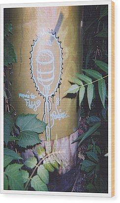 Fly Wood Print by Richard N Watkins