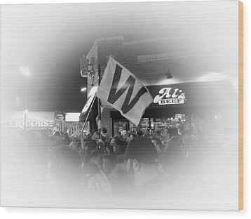 Fly The W Wood Print