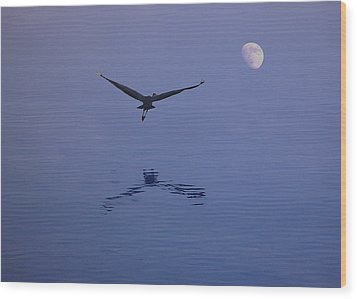 Fly To The Moon Wood Print by Eric Workman