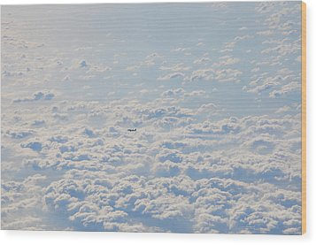 Wood Print featuring the photograph Flying Among The Clouds by Bill Cannon