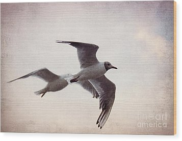 Flying Wood Print by Angela Doelling AD DESIGN Photo and PhotoArt