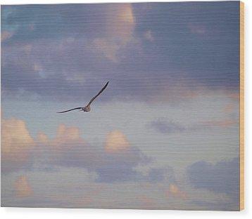 Flying Away Wood Print