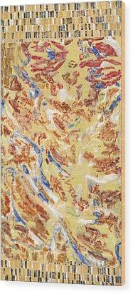 Flying Carpet Wood Print by Joan De Bot