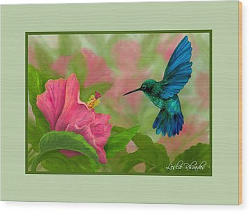 Flying Colors Wood Print by Leslie Rhoades