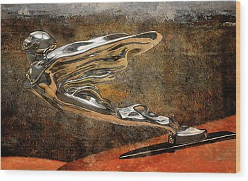 Wood Print featuring the digital art Flying Erol by Greg Sharpe