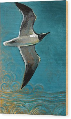Flying Free Wood Print by Suzanne McKee
