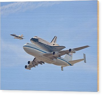Flying Into History Wood Print by Andrew J. Lee