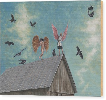 Flying Lessons Wood Print by Holly Wood