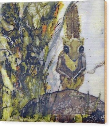 Flying Squirrel Wood Print