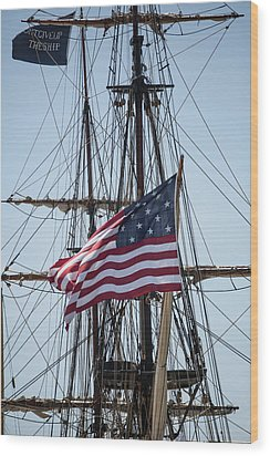 Wood Print featuring the photograph Flying The Flags by Dale Kincaid