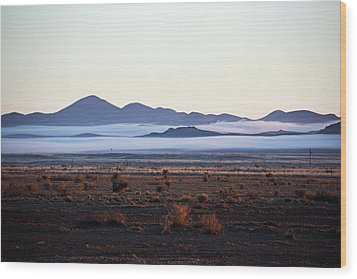 Fog In The Peloncillo Mountains Wood Print