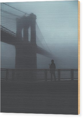 Fog Life  Wood Print by Anthony Fields