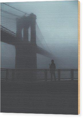 Fog Life  Wood Print