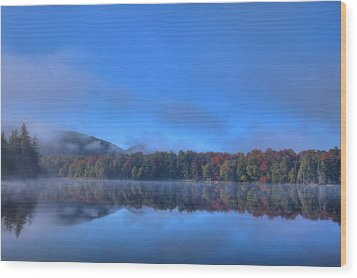 Wood Print featuring the photograph Fog Lifting On West Lake by David Patterson