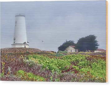 Wood Print featuring the photograph Fog - Piedras Blancas by Nikolyn McDonald