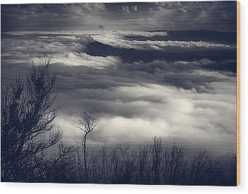 Fog Wave Wood Print