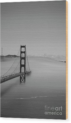 Wood Print featuring the photograph Fogging The Bridge by David Bearden