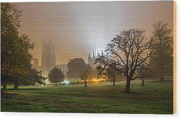 Foggy Cathedral Wood Print