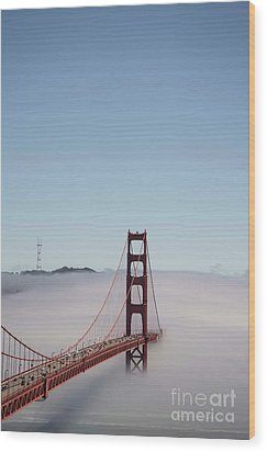 Wood Print featuring the photograph Foggy Golden Gate by David Bearden