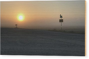 Wood Print featuring the photograph Foggy Hawkeye Sunrise  by Jame Hayes