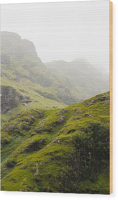 Wood Print featuring the photograph Foggy Highlands Morning by Christi Kraft