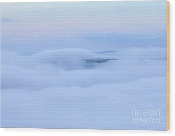 Wood Print featuring the photograph Foggy Layers by Kerri Farley
