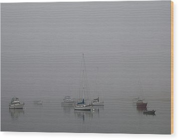 Wood Print featuring the photograph Waiting Out The Fog by David Chandler