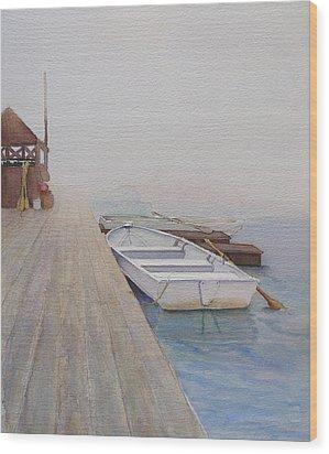Foggy Morn Wood Print by Judy Mercer
