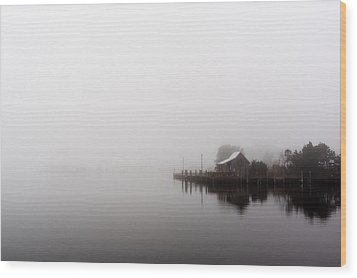Foggy Morning Wood Print by Gregg Southard