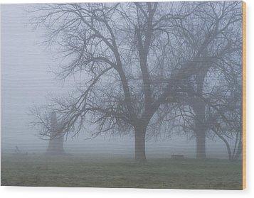 Foggy Morning Wood Print by Randy Bayne