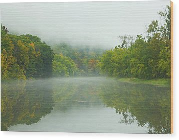 Foggy Reflections Wood Print by Karol Livote
