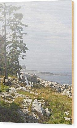 Foggy Rest Wood Print