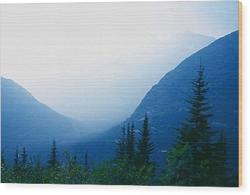 Wood Print featuring the photograph Foggy Valley by Jack G  Brauer