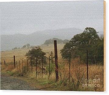 Foggy Wet Morning Wood Print by Robert Ball