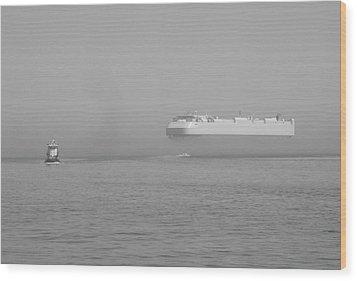 Fogs Floating Barge Wood Print by WaLdEmAr BoRrErO