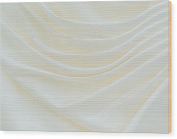 Folded Fabric Waves Wood Print by Meirion Matthias