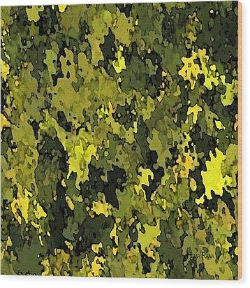 Foliage Wood Print by Hema Rana