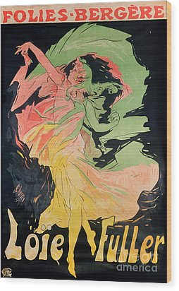 Folies Bergeres Wood Print by Jules Cheret