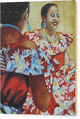 Folklorica II Wood Print by Monica Linville