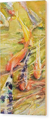 Follow The Leader Wood Print by Judith Levins