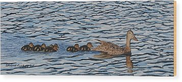 Follow The Leader Wood Print by Sharon Farber