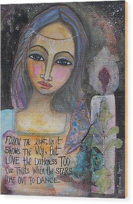Follow The Light Wood Print by Prerna Poojara
