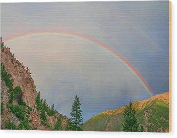 Follow The Rainbow To The Majestic Rockies Of Colorado.  Wood Print by Bijan Pirnia