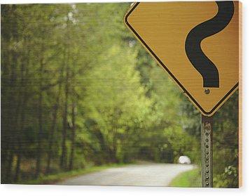 Follow The Sign Wood Print