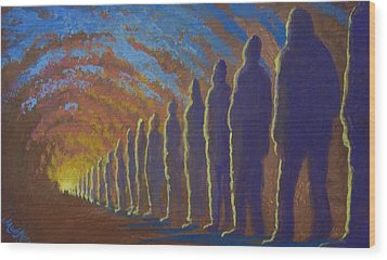 Followers Of The Light Wood Print by Marjorie Hause