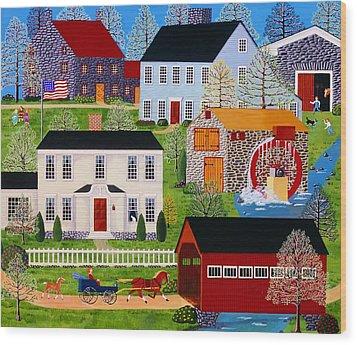 Followin' Mama Wood Print by Susan Henke